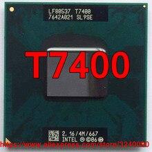 Soquete 479 cpu intel core 2 duo t7400 original, (4m de cache/2.16ghz/667 mhz/dual-core) processador para laptop, frete grátis