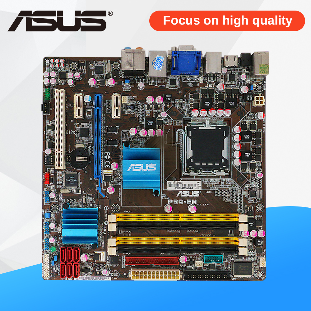 Asus P5Q-EM Desktop Motherboard G45 Socket LGA 775 DDR2 16G SATA2 USB2.0 uATX gp cr2032 3v lithium cell button battery 5 piece pack