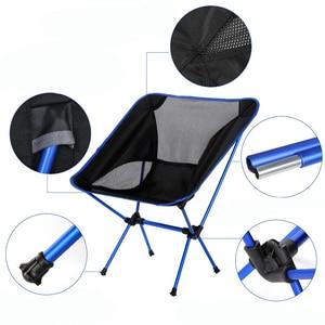 Image 3 - Przenośne siedzisko lekkie krzesło wędkarskie szybka rosja Stock stołek kempingowy składane meble ogrodowe przenośny ultralekki fotel