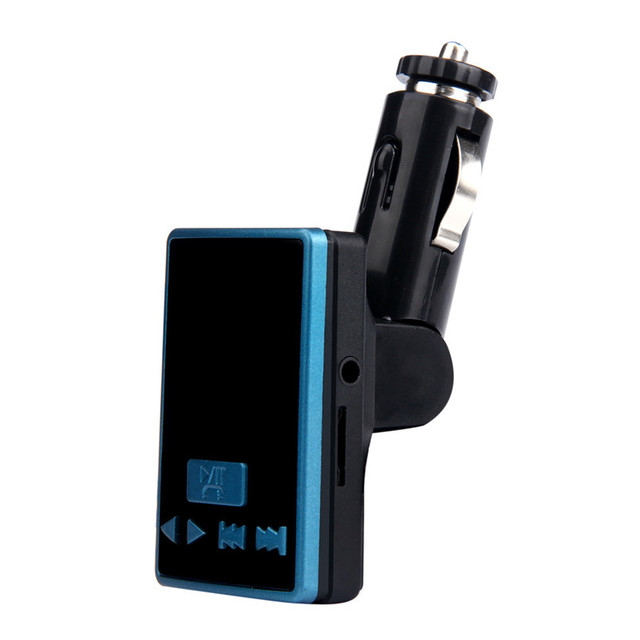 Nice Blue and Black S6 BT USB Charger LCD Car Kit MP3 Bluetooth FM Transmitter With Hands-Free Remote Controller 7*