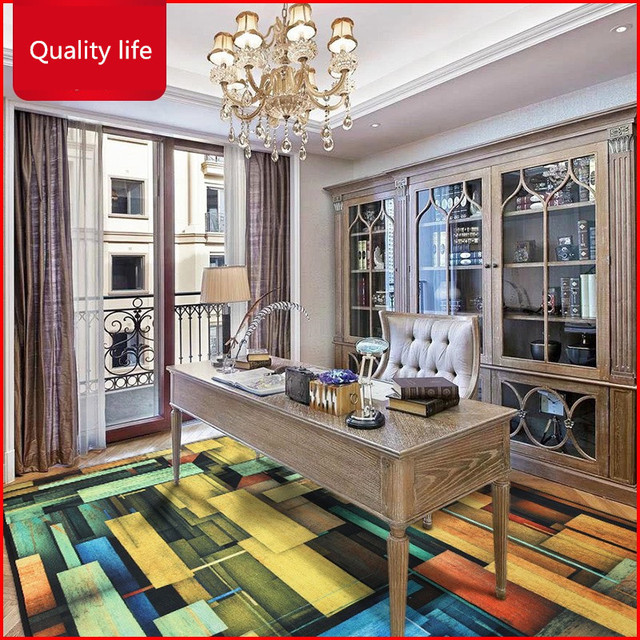 Large Delicate European Style Carpet Elegant Geometric Patterning Rugs For Living Room Bedroom Free Shipping