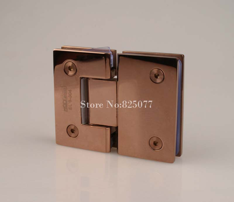 1PCS Rose Gold 180 Degree Hinge Open 304 Stainless Steel Glass Shower Door Hinges For Home Bathroom Furniture Hardware HM155 brand naierdi 90 degree corner fold cabinet door hinges 90 angle hinge hardware for home kitchen bathroom cupboard with screws