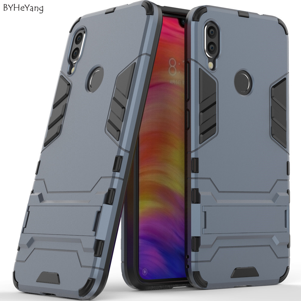 Stand Case For Xiaomi Redmi Note 7 Pro case Design Armor Shockproof Hybrid Hard Back Cover for Xiaomi Redmi Note 7 Bumper Case redmi note 7 pro cover
