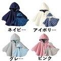 Invierno Bebé Ropa de abrigo infantil Bebe Recién Nacido Vestido de Poncho Ropa de Abrigo Con Capucha Chaqueta Reversible Capa Abrigos