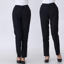חדש גבירותיי שחור מלצרים עבודה ללבוש מדים נשי הטוב ביותר שף מכנסיים מלון מסעדת מטבח מכנסיים