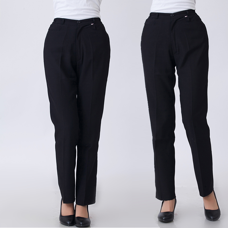 New Ladies Black Waiters Work Wear Uniforms Female Best Chef Pants Hotel Restaurant Kitchen Trousers