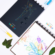 Elfinbook סקיצה A4 ציור ציור מחברת חכם לשימוש חוזר עם אפליקציה סריקה