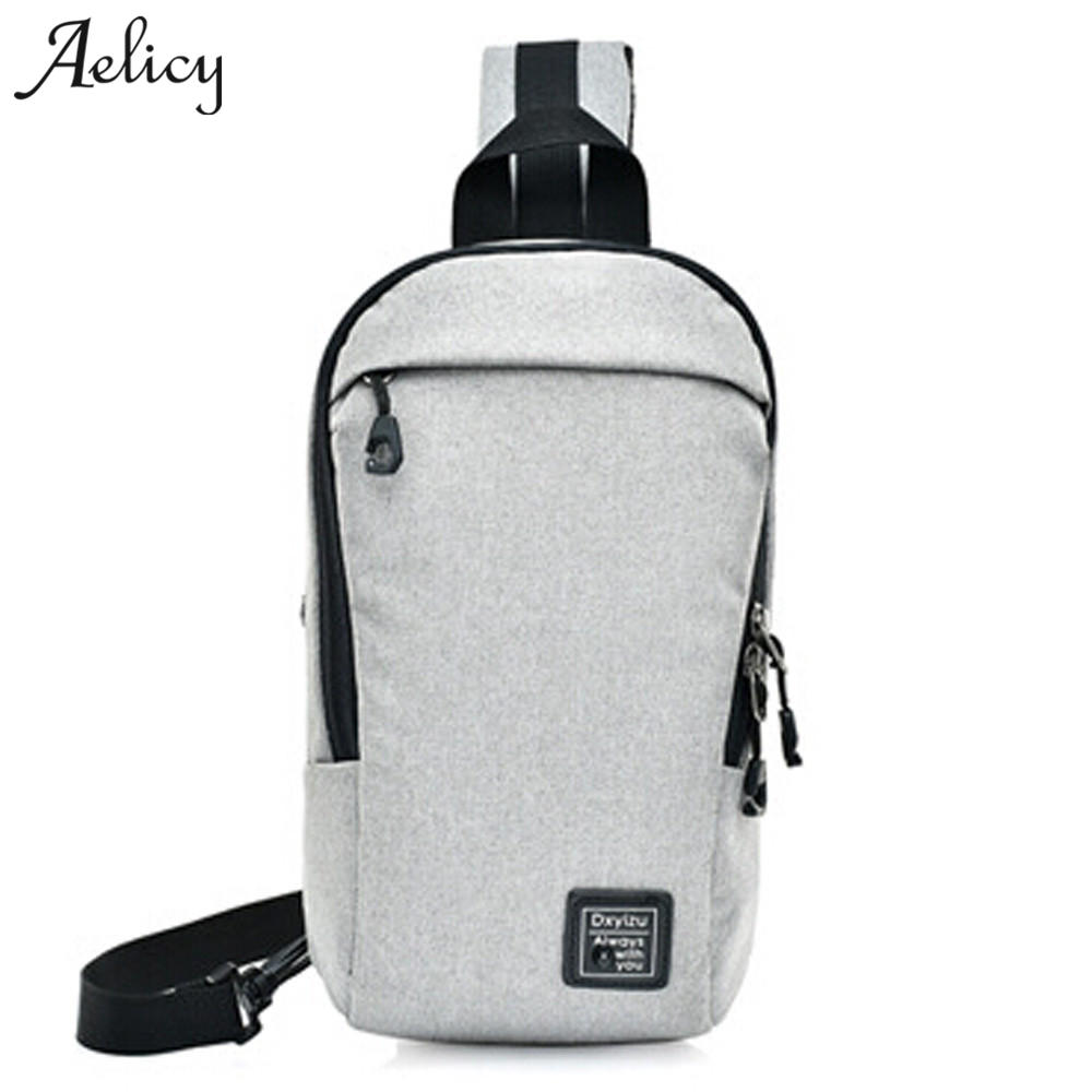 Aelicy Fashion Messenger Casual Travel Chest Bag Canvas Crossbody Back Pack Mens Shoulder Bag Multifunction Small Travel Bags ...