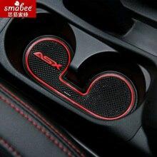 15 шт./компл. для Mitsubishi ASX 2013 2014 2015, автомобильные аксессуары 3D резиновый коврик не-антискользящий коврик интерьерная чашка коврик двери паз коврик Smabee