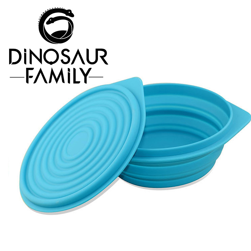 Baby Kids Child Feeding Lid Training silicone Bowl Cartoon Baby Feeding Tableware Children Plate Sucker Bowl