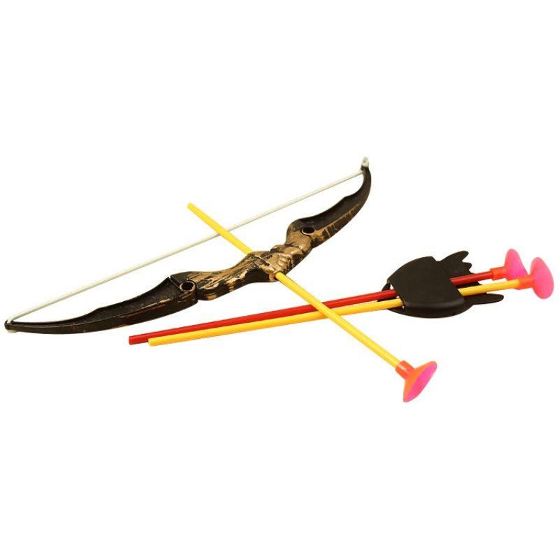 Stylish Shooting Outdoor Sports Toy Bow and Arrow Toy Set Plastic Toys for Children Kids Outdoor Funny Toys