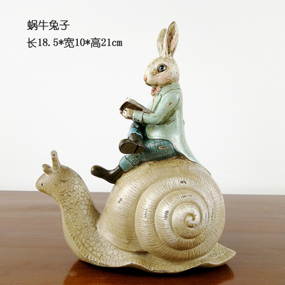 Nordic Creative Present Home Wedding Office Decor Decorative Resin Articles Children Gifts Lovely Rabbit Statues