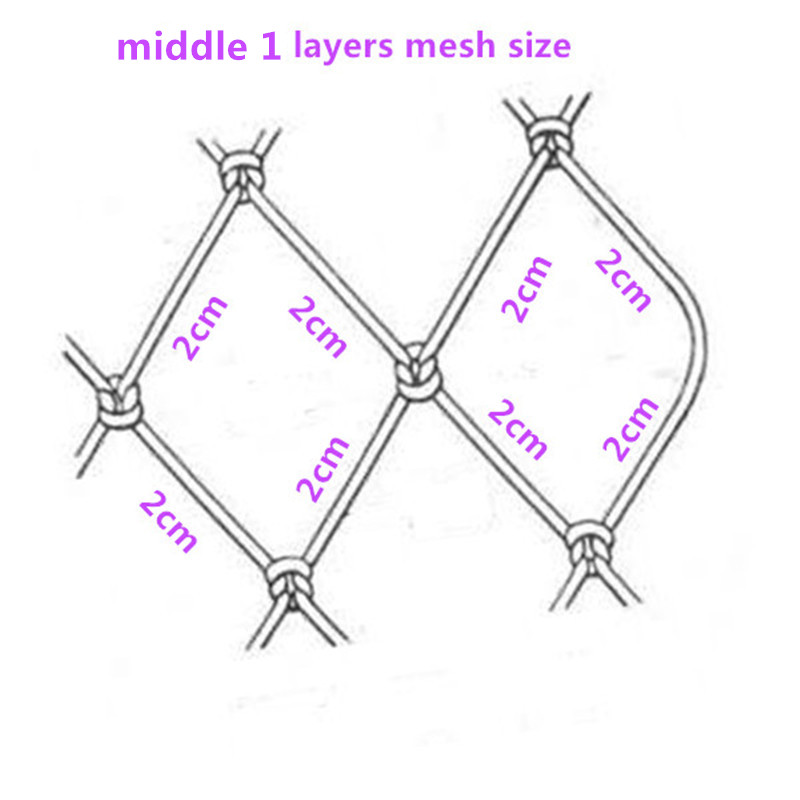 0 18mm wire sea fishing net H1 6m L65m 3layer 2cm mesh pesca fish trap fishing network potes red de pesca sink fishing net china in Fishing Net from Sports Entertainment