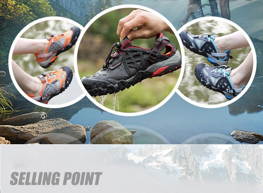 trekking sandálias casais tênis de pesca água