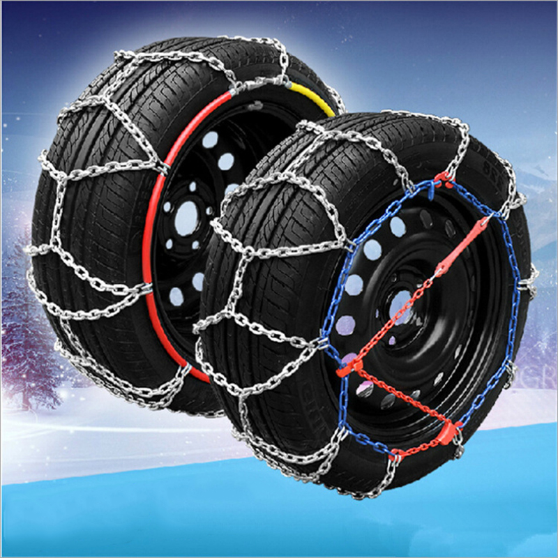 Snow Chain of Automobile Tires Titanium Alloy Cross-country Coarse Metal Antiskid Chain 2 Pcs/Pack for 2 Wheels Maintenance mxfans rc 1 10 2 2 crawler car inflatable tires black alloy beadlock pack of 4