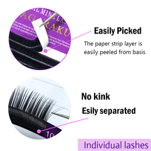 NAGARAKU 16Rows Faux mink individual eyelash lashes maquiagem cilios  for professionals soft mink eyelash extension