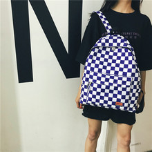 women backpack Black and white plaid retro fashion bag for teenager rusksack BM01-BP-gzfgss