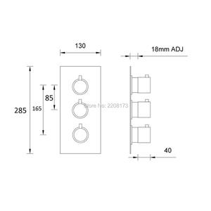 Image 4 - Grifo de ducha con acabado en latón cromado, 100% de alta calidad, válvula de ducha termostática oculta, grifo de agua redondo de 3 vías