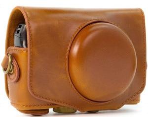 Image 2 - ريترو بو الجلود حقيبة كاميرا غطاء واقٍ مزخرف لهاتف آيفون غطاء مع حزام لكانون باور شوت SX740 HS SX730 HS SX720 HS كاميرا رقمية