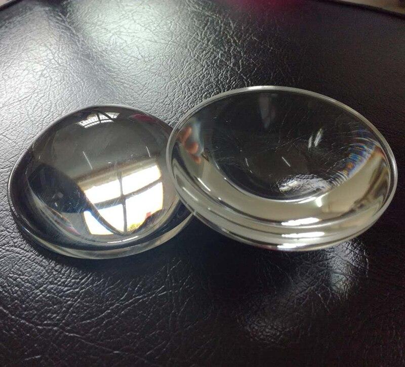 2 pièces 104mm Dia loupe optique haute borosilicate focale 110mm Plano convexe verre LED lentille
