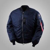 Армия ВВС США WW2 Винтаж полит Flight Bomber мужские MA1 куртка в стиле милитари ма 1 ВВС США Весна/осень нейлон хлопок пальто Верхняя одежда темно 2XL