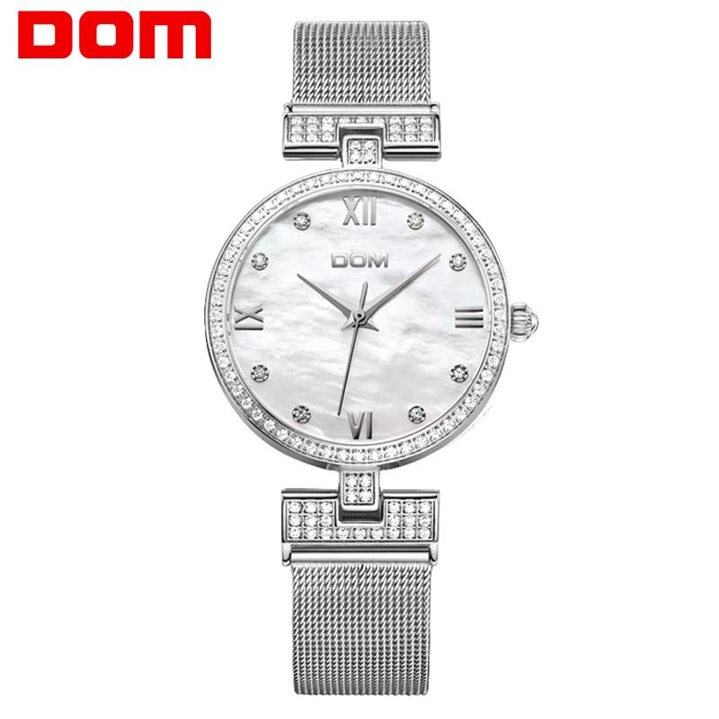 DOM Women&#39s Fashion Mesh steel belt Watches Womens Females Antique Geneva Quartz-watch Ladies Brands Wristwatch Relojes Mujer потребительские товары geneva relojes mujer 2015 montre g cd01
