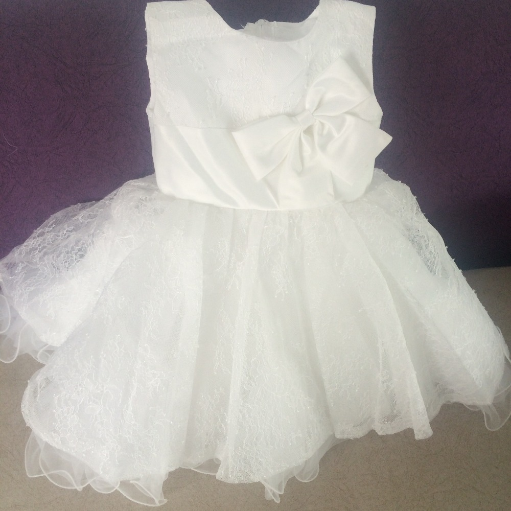 New Arrival New Born Baby Girl 1 Year Birthday Dress White Tulle ...
