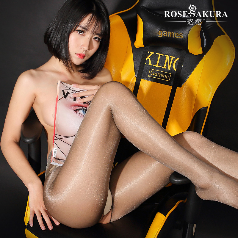 Buy 1PCS Sexy Open Crotch High Waist Shiny Glossy Oil Stocking T Crotch Stockings Club Dance Highs Tights Shaping Pantyhose FX1010