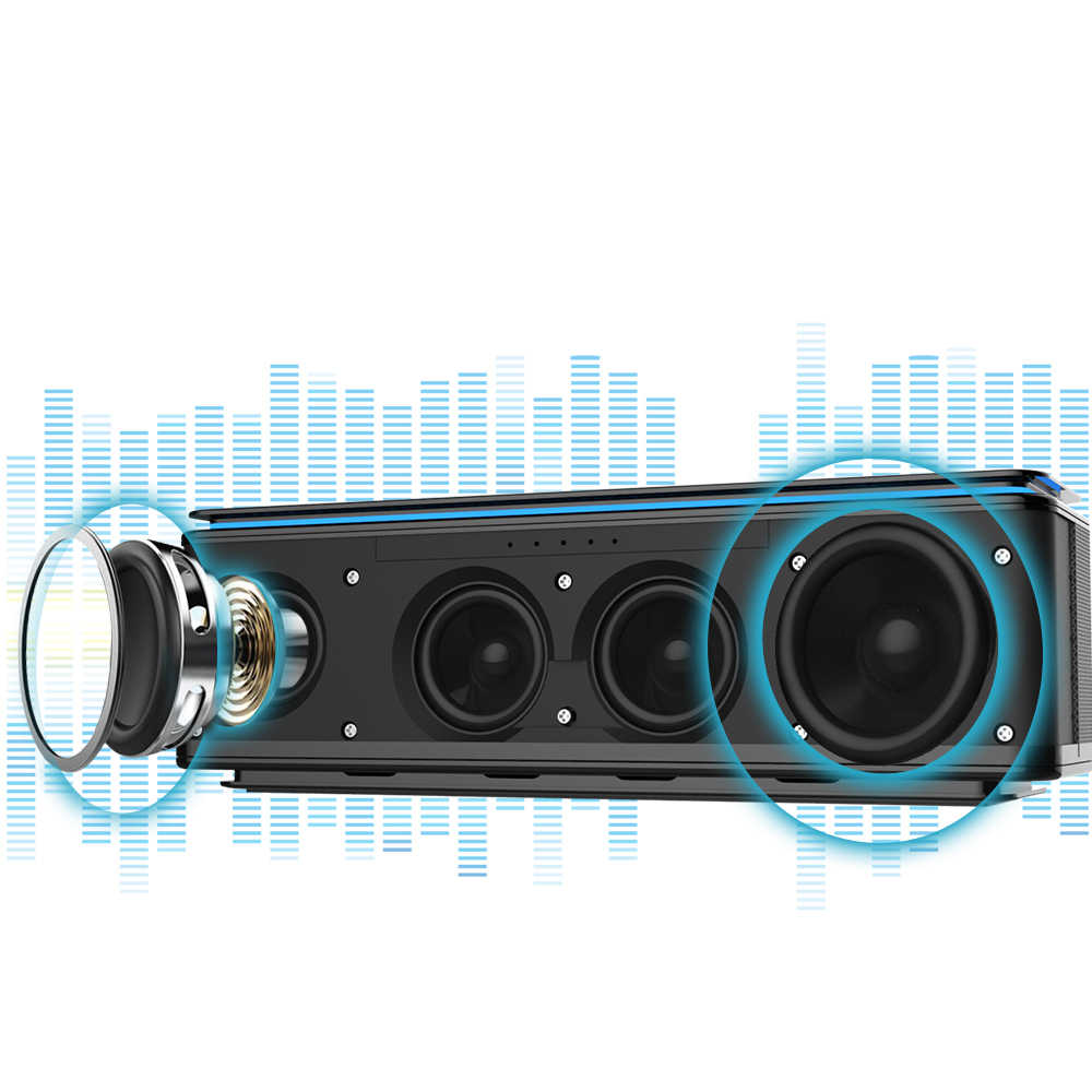 ZEALOT S7 Tragbare Bluetooth Lautsprecher Leistungsstarke Hifi Subwoofer Home Theatre System Drahtlose Lautsprecher, Power Bank, Unterstützung Tf-karte