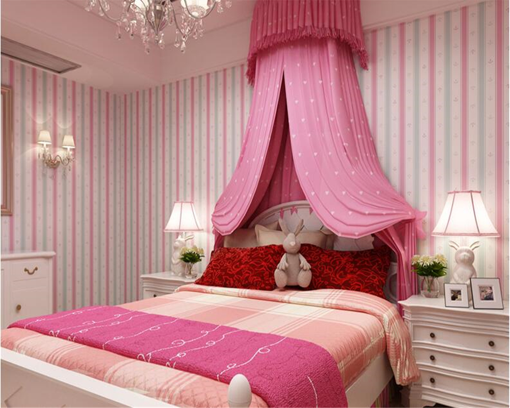 beibehang Korean personality children room girl boy striped wallpaper princess room non-woven papel de parede 3d wallpaper beibehang wall paper pune girl room cartoon children s room bedroom shop for environmental non woven wallpaper ocean mermaid