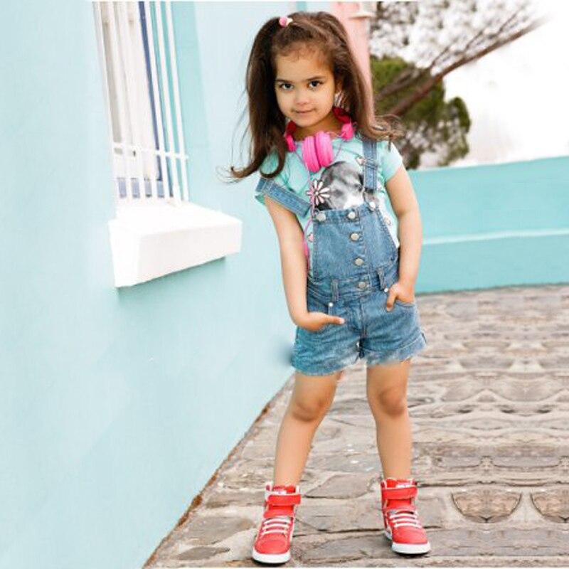 nouvelle arrivee 0cfbc a533b Salopette filles jeans d'été enfant fille salopette ...