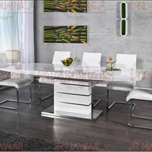 Минималистичный современный складной стол из нержавеющей стали белый набор для столовой панели обеденный стол mesa plegable de jantar muebles comedor