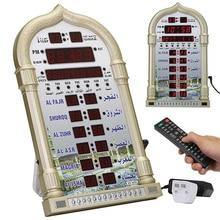 Calendario de reproducción de música mesa de pared Led automático musulmán oración regalo Azan reloj Digital mezquita decoración del hogar tiempo recordatorio Islámico