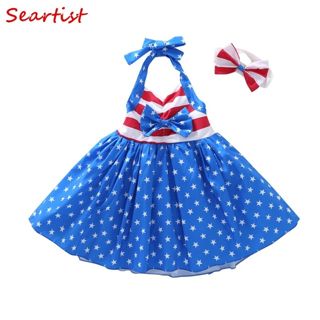bc128e50217 Seartist July 4th Dress Baby Girl Summer Dresses Baby Girl Clothes 4th of July  Dress Fourth