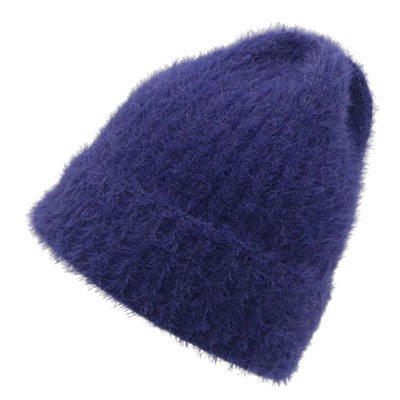 Mohair material for women warm hat autumn and winter season knitting caps leisure simple lady Skullies Beanies High quality hat
