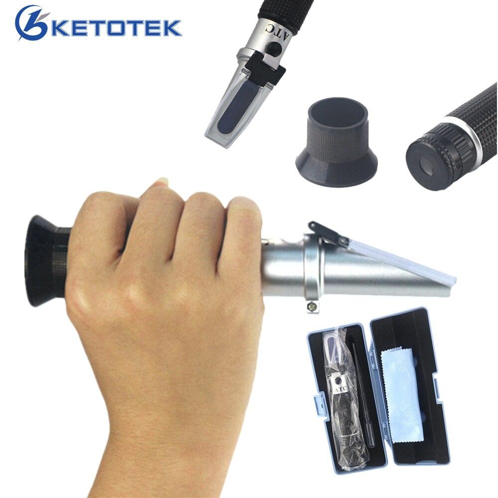 Hand Held 0-80% Alcool Réfractomètre Alcoomètre Alcool Liqueur Testeur ATC Avec la Boîte de Détail