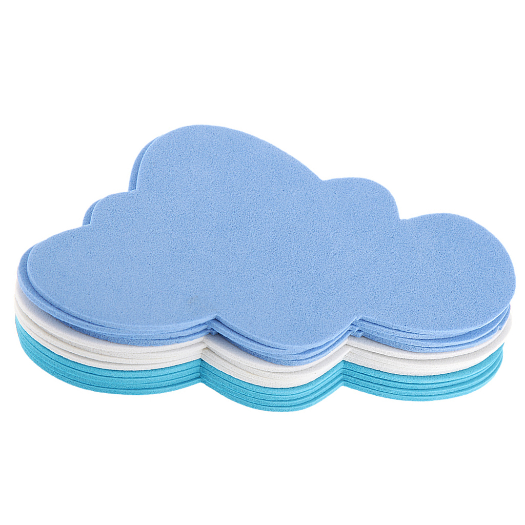 Pack Of 12 Mixed Foam Clouds Shapes For Kids Children Crafting DIY Decoration