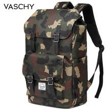VASCHY Casual Waterproof Backpack Rucksack with Drawstring Camo Outdoor Hiking Camp Hunting Bag Laptop School Backpack Men Women