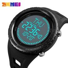 2018 SKMEI שעון גברים של שעון דיגיטלי גברים חיצוני 50 m עמיד למים ספירה לאחור מצפן הכרונוגרף ספורט שעון איש Relogio Masculino