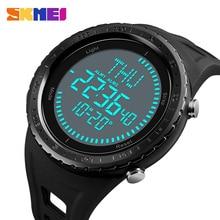 Мужские часы SKMEI 2018, цифровые часы, мужские уличные водонепроницаемые часы 50 м с обратным отсчетом, компасом, хронографом, спортивные мужские часы