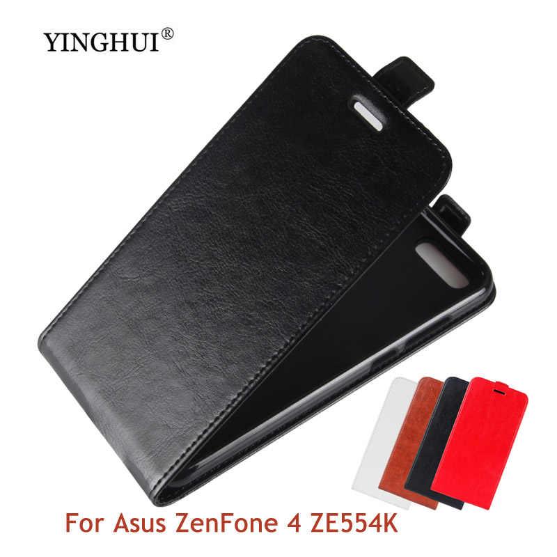 Фото Для Asus Zenfone ZE554KL роскошные чехлы для телефонов Чехол Флип карты Слоты магнитные
