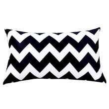 Cushion Cover Nordic Geometric Back Covers Decorative Pillow 30x50cm Black White for Sofa