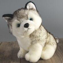 Супер милый 18 см щенок хаски собаки мягкая плюшевая кукла игрушки симуляция хаски собаки дети игрушки Успокаивающая кукла