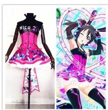 Hot Love Live! Cyber Idolized LED Gaming Game Awaken All Members Minami Kotori Cosplay Costume Lovely Dress цена