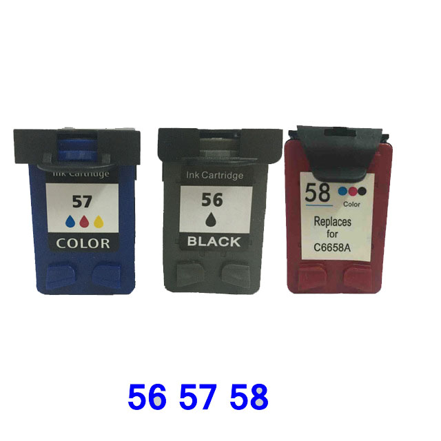 Cartridge tinta kompatibel Einkshop C6656A C6657A C6658A Untuk HP 56 57 58 untuk hp Officejet J5500 All-in-One Seri J5508 J5520