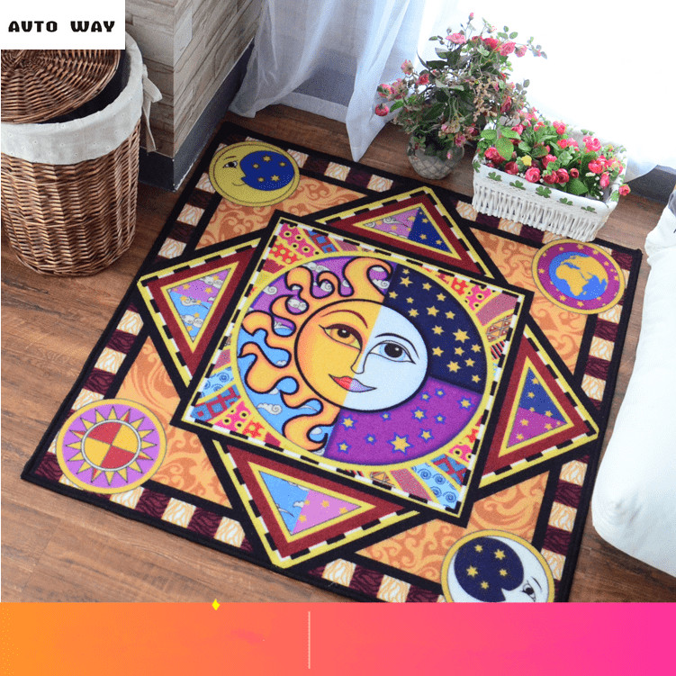 Lead Greek mythology Sun and the moon Living room mats Foyer slip carpet Apollo door rug Blended floor mat free shipping