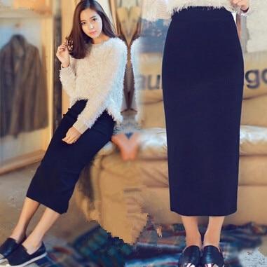 1a6ff1e0f8271b € 21.75 15% de réduction|Nouveau coton cheville longueur crayon longue jupe  décontracté haute maxi crayon jupes femme grande taille dans Jupes de ...