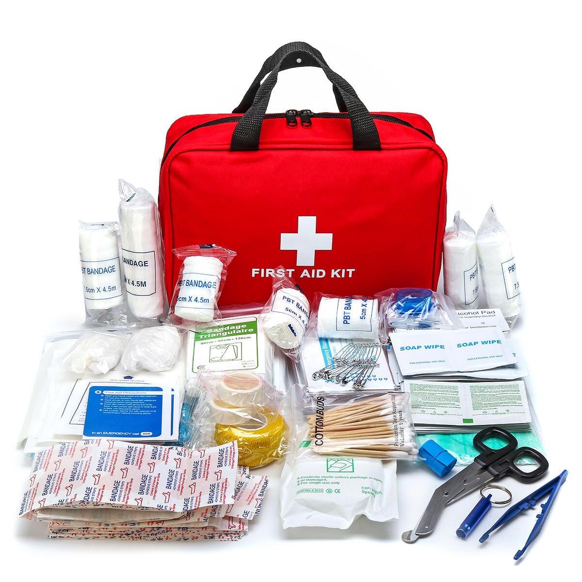 300 Pcs Kits De Sobrevivência de Emergência Suprimentos Médicos Ferida Conjunto Kit de Primeiros Socorros Saco Tratamento Pacote para Para Home Office Camping