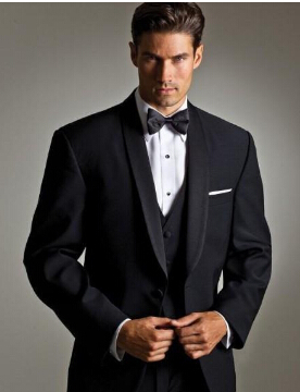 Handsome Men Suits Shawl Lapel Tailored Wedding Suit For