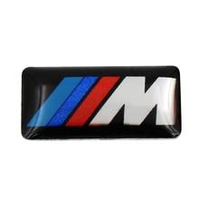 10Pcs Car styling Tec Sport Wheel Badge 3D M Emblem Sticker Wheel Decal Fit for BMW X1 X2 X3 M1 M3 M5 M6 Car Emblem Sticker